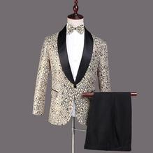 Blazer men groom suit set with pants mens wedding suits costume singer star style dance stage clothing fashion formal dress pyjtrl men five piece set europe style court marshal clothing groom wedding red mens suits party stage singer costume