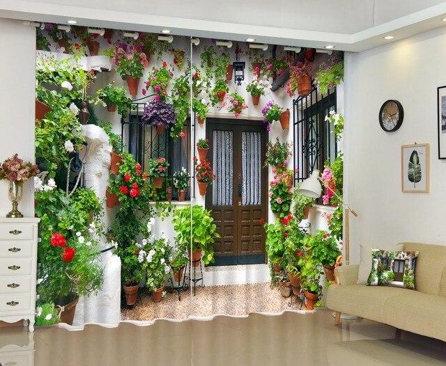 Moderne luxe fantasy tuin view d verduisterende gordijnen voor