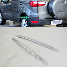 цена на Car Accessories Exterior Decoration ABS Chrome Rear Bumper Corner Protector Cover Trim For Ford Ecosport 2013 Car-styling