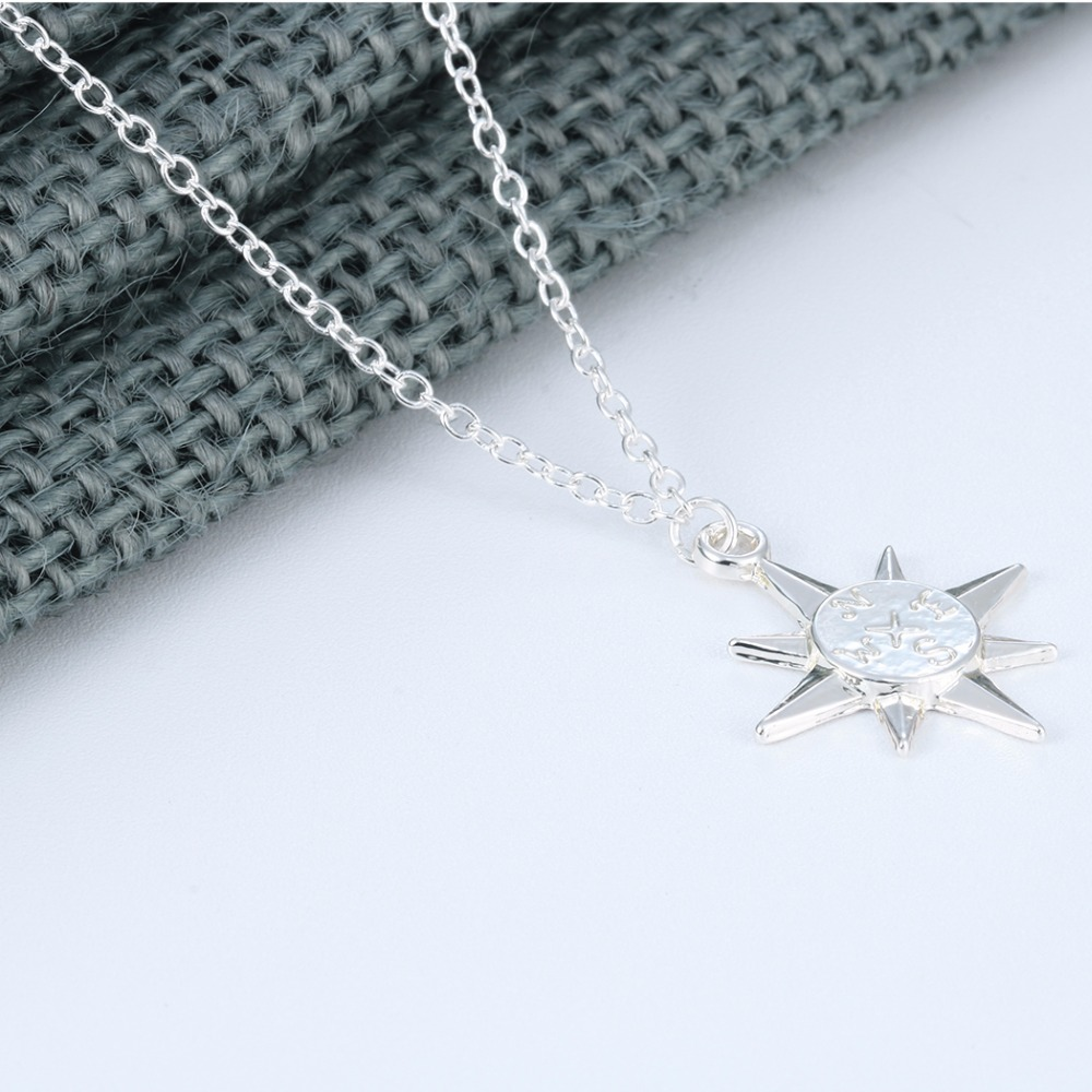 pin star guiding north charm sterling necklace pendants celestial pendant polaris silver