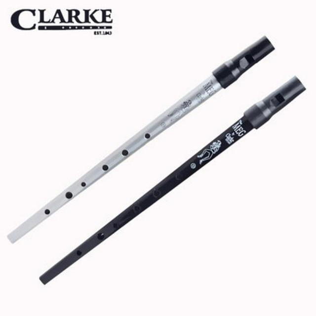 Clarke Tinwhistle Irish Whistle Flute Key of D Ireland Black Metal Flauta Wind Musical Instrument travel flutes