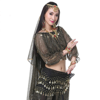 New Arrival Indian Dancing Costume With Sequins Tops Pants 2pcs Sexy Belly Dance Suits Sequins Dress