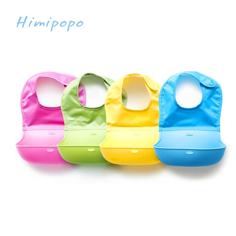 HIMIPOPO Kids Baby Bibs Girl Boy Newborn Waterproof Silicone Bandana Bib Saliva Towel Scarf Bib Silicone