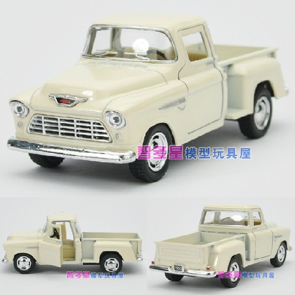 Candice guo! Nieuwe aankomst Kinsmart 1:32 mini 1955 Chevy pick-up truck legering model auto speelgoed cadeau 1 st