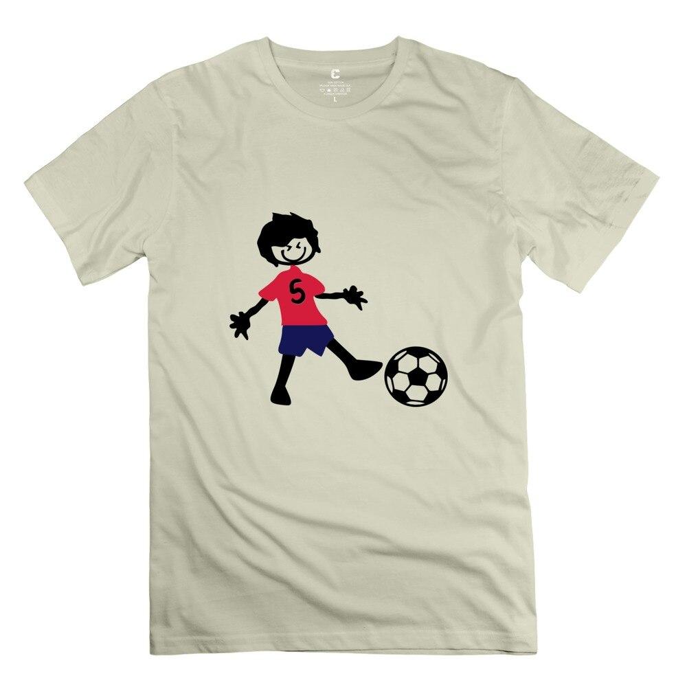 Nerd hombres de la camiseta del muchacho jugador de fútbol