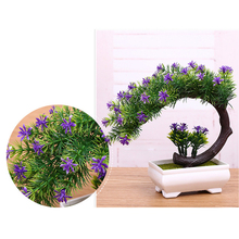 Artificial Plant Guest-greeting Pine Tree Bonsai Traditional Chinese Greeting Pine Trees For Desktop Home Decoration