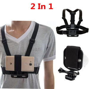 Image 1 - Универсальный ремешок для телефона 2 в 1 для крепления на голову, нагрудный ремень, ремешок на запястье с сильной присоской + нагрудный ремень для камеры