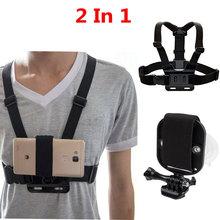 Cinturino per telefono universale 2in1 per supporto per cinturino per la testa, supporto per cintura toracica, cinturino da polso con ventosa forte + cinturino per fotocamera