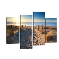 Seaside Sunset Canvas Wall Art Painting Poster Picture Print Home Decorationfor livingroom Wall Canvas for Bathroom