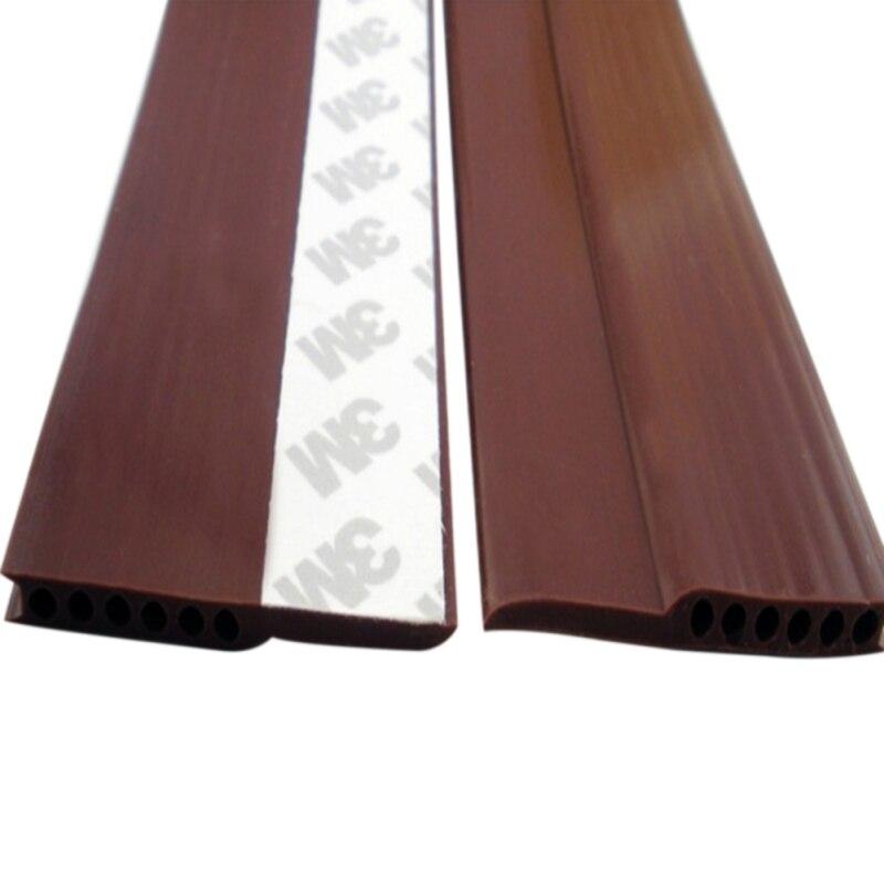 Hardware 45mm Breite Fenster Tür Boden Silikon Gummi Dicht Streifen Selbstklebende Wetter Strippen