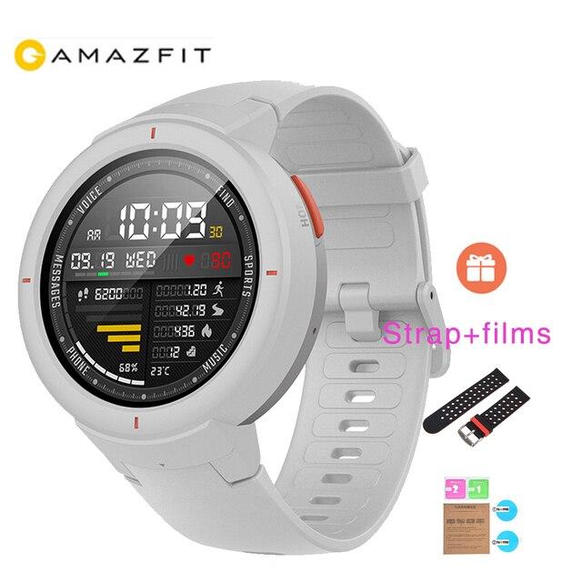1 Year Warranty Xiaomi Huami AMAZFIT Verge Smart Watch 3 GPS+Glonass HR IP68 Waterproof 390mAh Multi-Sports Smartwatch gift