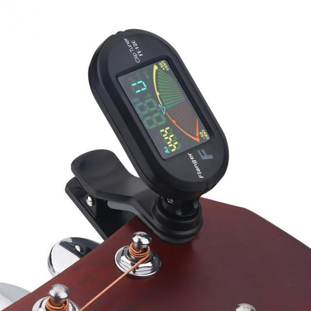 Clip On Guitar Tuner >> Flanger Ft 12c Guitar Tuner Colorful Screen Chromatic Tuner With