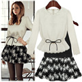 On behalf of a 2015 new winter fashion autumn dress long sleeved skirt suit two Korean cultivating base