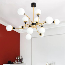 12 lamp head AC 220V retro modern LED chandelier simple gloss G9 indoor living room lighting kitchen restaurant lamps