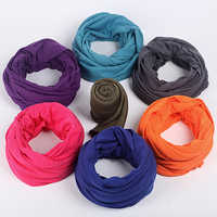 Soft Light Weight Infinity Scarf With Solid Colors Jersey Knit Solid Color Infinity Loop Ring Scarf Circle Scarf New