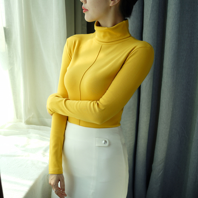 Sweater Female Soft Korean Style Skinny Winter Turtleneck Women Bodycon Basic Pullovers Long Sleeve Pull Femme