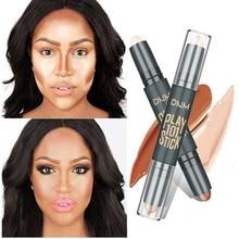 Базовый контур для макияжа, консилер для глаз, крем-палочка, бронзер, покрытие, темный круг, хайлайтер, Осветление кожи, 2 цвета, праймер для макияжа