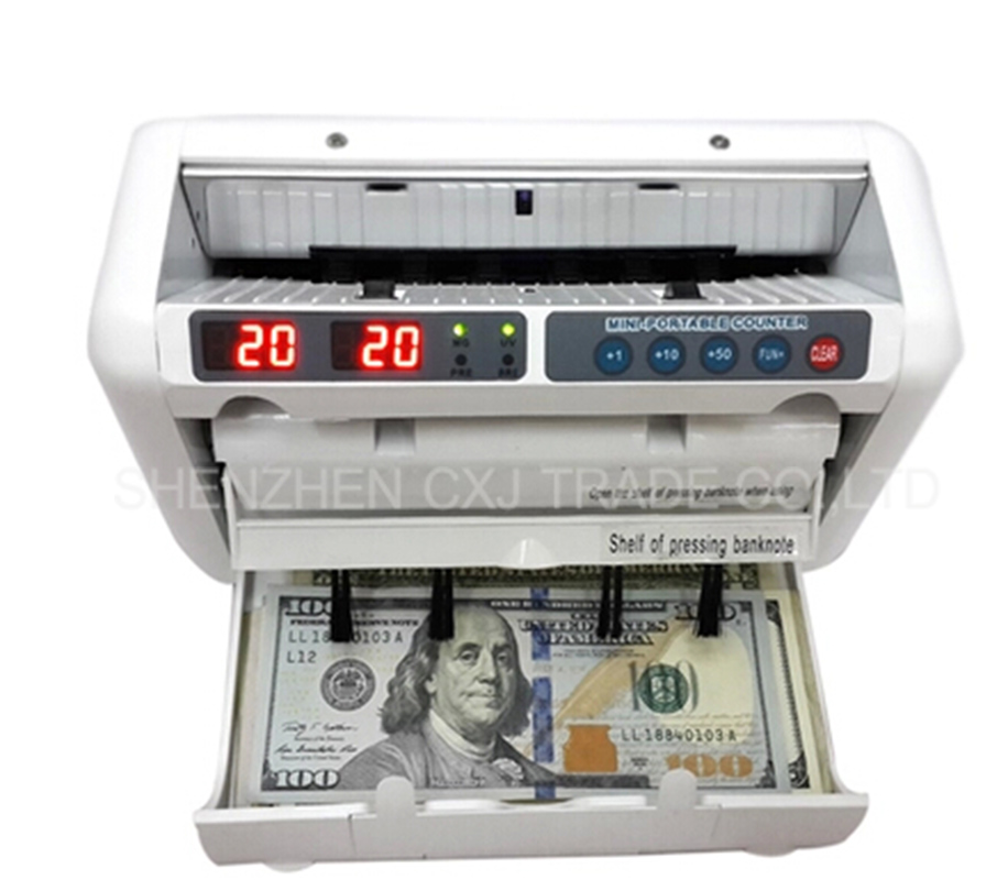 1PCS Money Counter Suitable For EURO US DOLLAR Etc. Multi-Currency Compatible Bill Counter Cash Counting Machine
