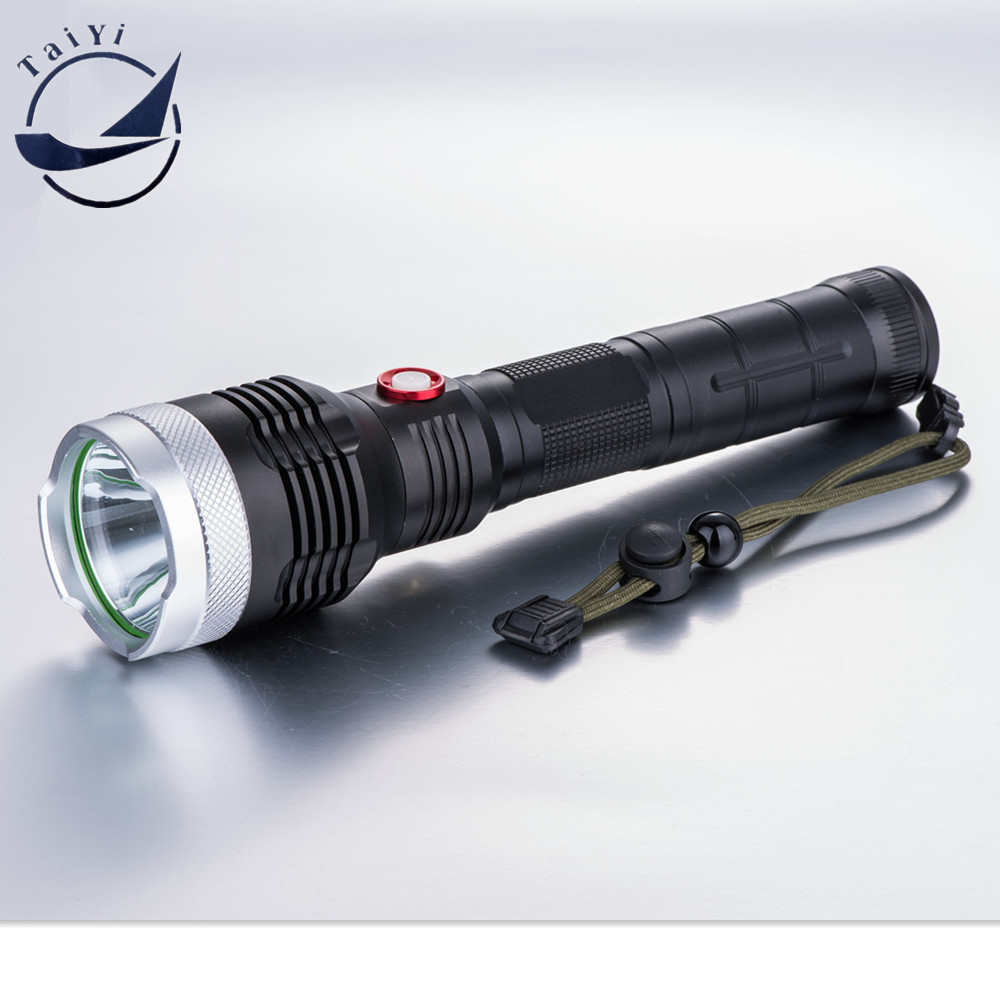ФОТО [TAIYIdBig Sale! 1800 Lumen High Power Zoomable CREE XML T6 LED Flashlight Torch 5 Mode Flash Light +DC Charger