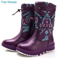 CHILDREN S WINTER BOOTS Kids Girl Boot Tree Wrasse New Printing Waterproof Children S Warm Cotton