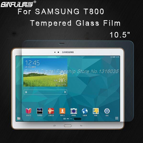 Samsung Galaxy Tab S 10.5 T800 T805 T807 tablet üçün BINFUL Premium temirlənmiş şüşə Qoruyucu Ekran Qoruyucu Film