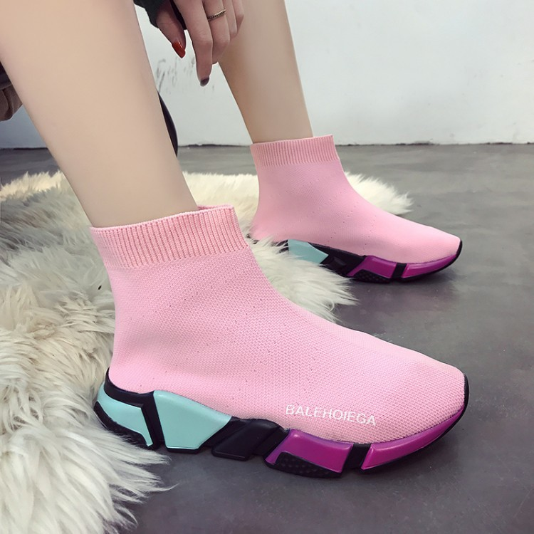 super fire stretch socks shoes color at the bottom of the new spring 2018 sneakers knitting leisure joker short boots