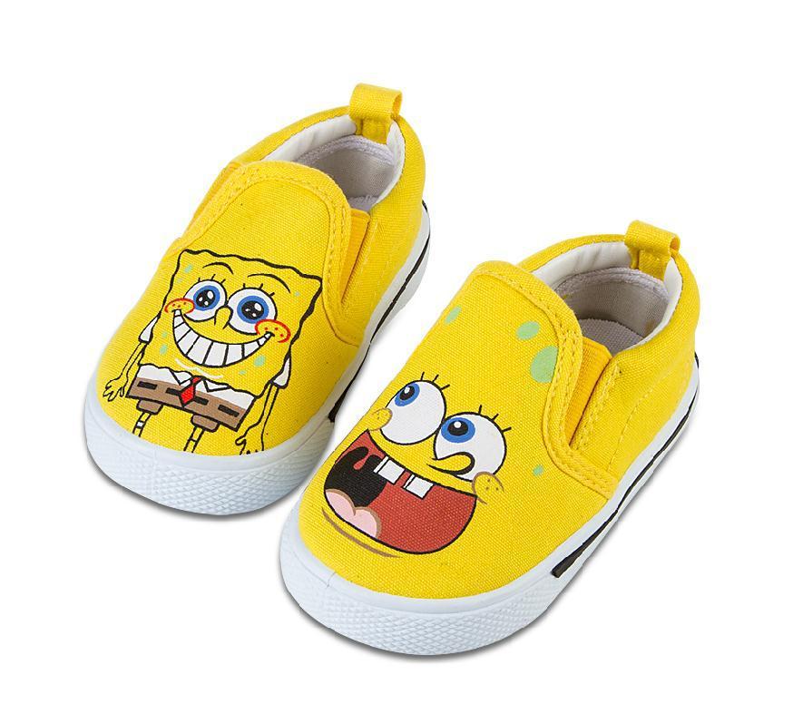 autumn casual spongebob shoes for kids