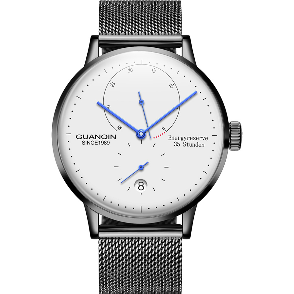 HTB1U aYcpuWBuNjSszbq6AS7FXao GUANQIN Mechanical Business Watch Men Top Brand Luxury Luminous 316L stainless steel Wrist Mens Automatic Watches Gold Clock
