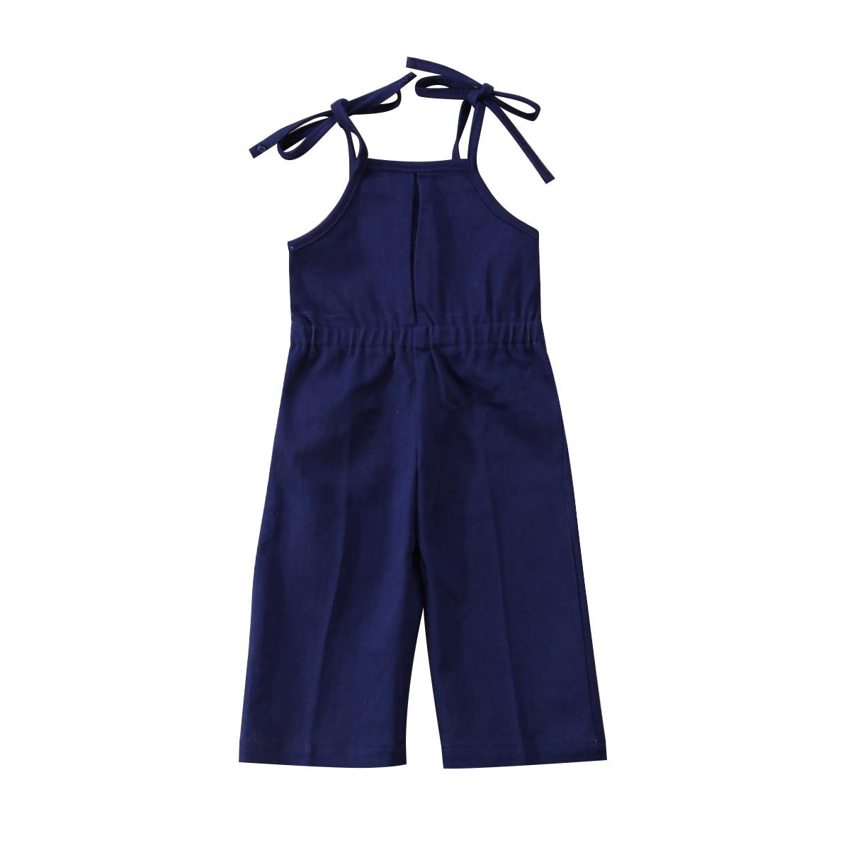 Newborn Kids Girls Denim Strap Bib Pants Romper Jumpsuit Playsuit Outfit Clothes Toddler Adorable Baby Summer Denim Romper 1-7Y