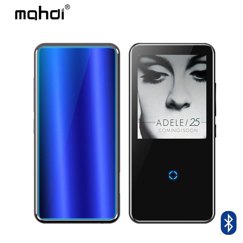 Bluetooth lecteur mp3 2.4 pouces écran tactile intégré haut-parleur avec radio FM/enregistrement Portable mince sans perte son baladeur - 2
