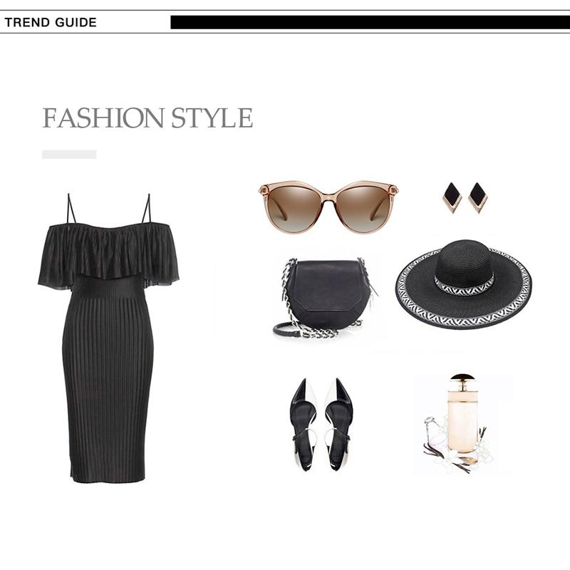 HTB1U azayHrK1Rjy0Flq6AsaFXaE 2020 New Luxury HD Polarized Women Sunglasses Fashion Round Ladies Vintage Brand Design cat eye woman Female Sun Glasses oculos