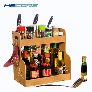 Plastic Storage Shelf | HECARE Plastic Spices Shelf Waterproof PVC Storage Rack For Kitchen Shelves Organizer Stands For Knives Kitchen Supplies New