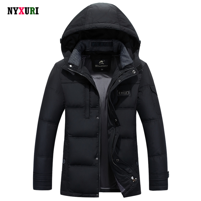 Camperas Hombre 2015 Invierno Ea Hooded Coat Men Big Size Parka 90% White Duck Down Warm Napapijri Winter Jacket Pluma Pockets