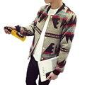 M-5XL bomber jacket men 2016 mens fall jacket jacket 2016 men print jaqueta college masculina BA06