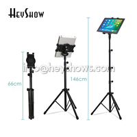 6x Adjustable Ipad Floor Display Stand Tablet Tripod Mount Holder Kindle Support With Clamp For 7 10.1'' Tablet Foldable