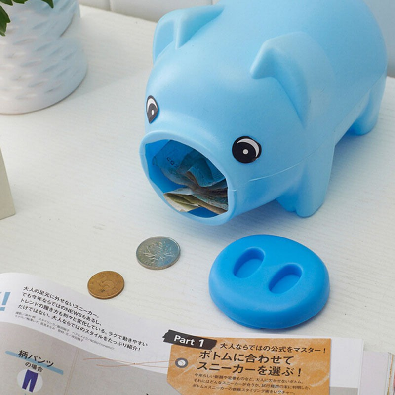 Portable Cute Plastic Piggy Bank Saving Cash Coin Money Box Children Toy Kids Gifts Home Collection 3 Colors In Bo From Garden On