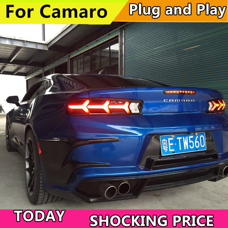Car Styling 2017-2018 year For Chevrolet Camaro taillights LED Tail Lights Rear Lamp LED DRL+Brake+Park+Signal Stop Lamp car styling tail lamp for toyota corolla 2014 2015 2016 taillights tail lights led rear lamp led drl brake park signal stop lamp