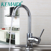 KEMAIDI UK Durable Quality Kitchen Mixer Chrome Polished Basin Sink Tap Swivel Faucet Single Lever Rotated