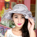 Women Sweet Cute Sun Hats Europe and American Retro Sun Cap Summer Fashion Anti Ultraviolet Ray Beach Hat Female Shading Caps