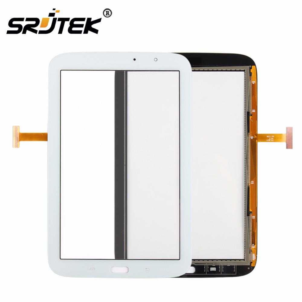 Srjtek 8 For Samsung Galaxy Note 8.0 N5110 Touch Screen With Digitizer Panel Front Glass Lens Black white srjtek 8 inch for samsung galaxy note 8 n5100 3g lcd display panel touch screen digitizer assembly