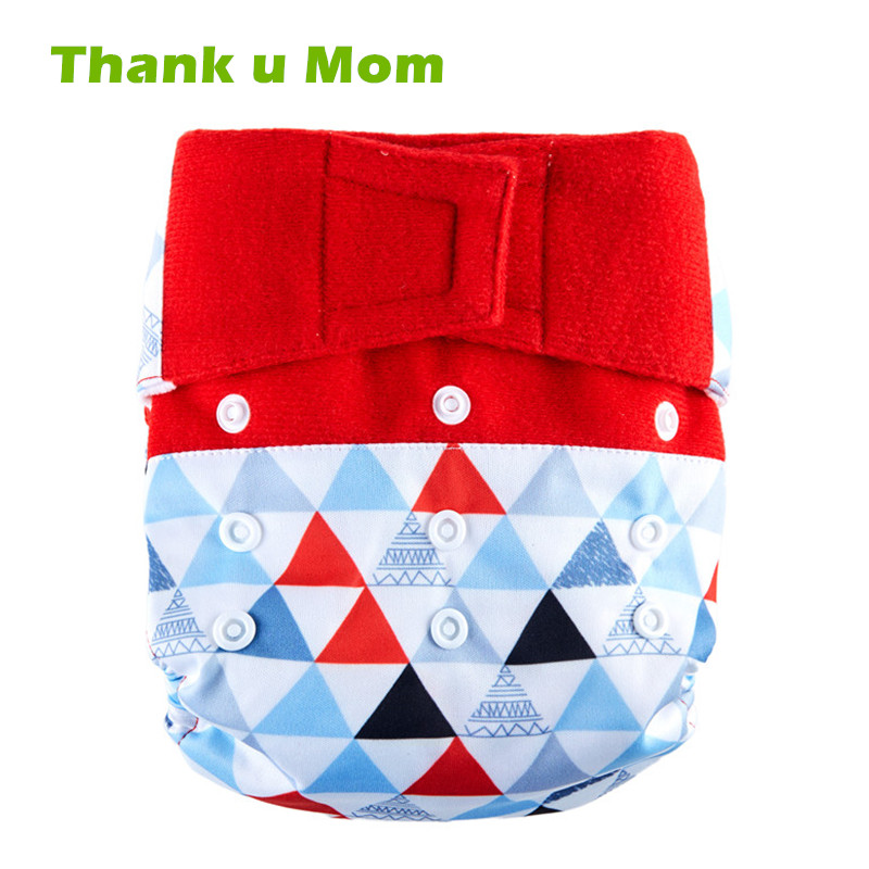 Thank u Mom 2018 Hook & Loop Washable Cloth Diaper Baby Diaper Cover PUL Fabric Reusable Nappies couche lavable fralda de pano