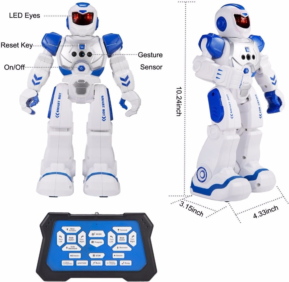 RC Remote Control Robot Smart Action Walk Dance Kids Toy with music lights Gift