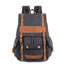 Canvas backpack laptop bag 282