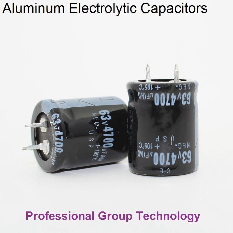 1PCS 63V 4700UF Snap In  Electrolytic Capacitors