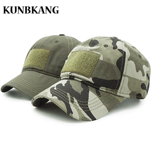 a11e733ced New Men Camouflage Tactical Hat Patches Army Baseball Cap Hunting Fishing  Hat Camo Trucker Snapback Bone Outdoor Visor Dad Caps