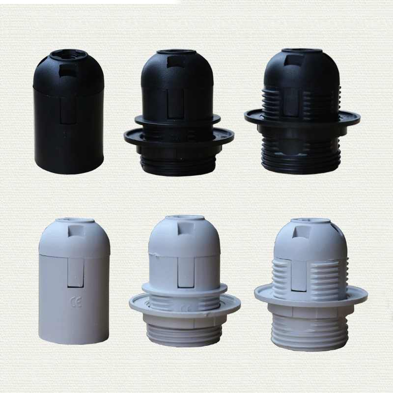 1PCS High quality White black 2A 250V E27 / E14 card-type lamp holder CE certification, e14 e27 socket