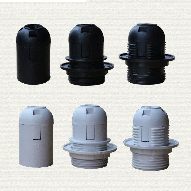 1PCS High quality White black 2A 250V E27 / E14 card-type lamp holder CE certification, e14 e27 socket