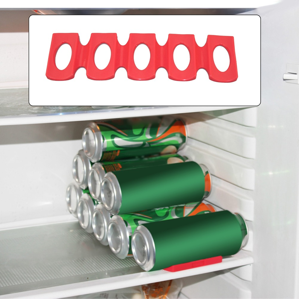Silicone Refrigerator Anti-skid Pad Beer Bottles Cans Organizer Rack Holder Space Saver Stacking Tool Kitchen Organizer Tools