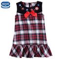 girls dresses summer 2016 children clothing dress for girls plaid nova kids clothing 100% cotton girls clothes girls dress H6085