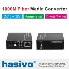 1 pair gigabit fiber optical to rj45 UTP media converter 1310/1550 ethernet switch interruptor